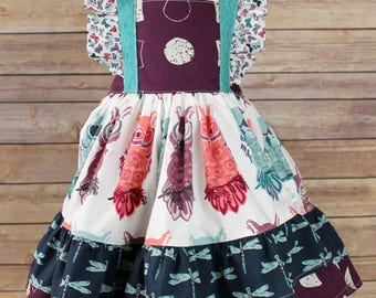 Over The Moon -- A Woodland Mashup Dress