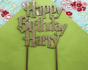 Custom Harry Potter Birthday Cake Topper Harry Potter Cake Topper Wizard Cake Topper Harry Potter Party Harry Potter Decorations