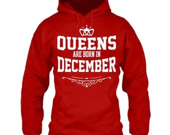 Queens Are Born In January February March April May June July August September October November December Hoodies