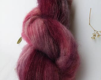 Hand dyed kid mohair lace with silk 50 g