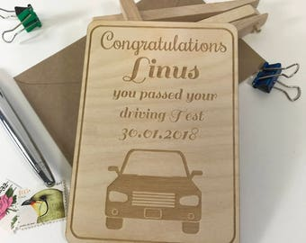 You Past Your Driving Test, Congratulations Driving Test Card, Passed your Driving Test, Congratulations Card