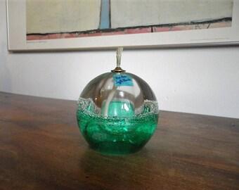 Blown glass sphere oil lamp - Handmade - mouth blown - Baccarat bladder - gift idea