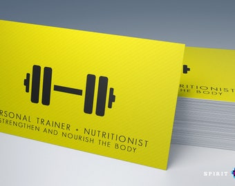 Training w/Stripes personal trainer business card design + Printing (optional) + FREE USA SHIPPING
