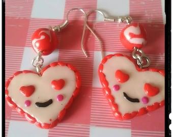 HEART earring pair
