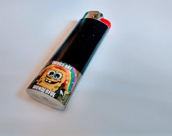Spongebob Squarepants - Drugs Are Wonderful Meme - Double Sided - Custom Lighter