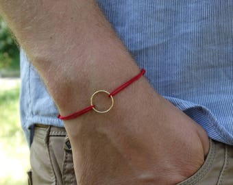 Red thread bracelet 14k gold filled Karma bracelet Eternity bracelet Circle bracelet protective bracelet Good luck bracelet Amulet bracelet