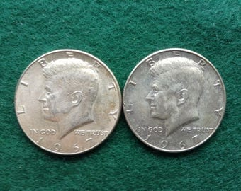 1967 P Silver Kennedy Half Dollars, Old US Coins, Coin Collecting and Investing, 40 Percent Silver Half Dollar