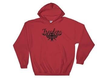 Freedom Cross Hooded Sweatshirt