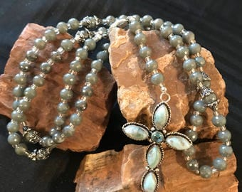 Silver Beaded Five Decade Rosary