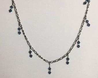 Swarovski jewelry set Navy CO157