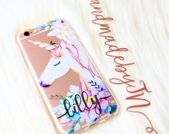 Floral Unicorn Phone case iPhone 7 case iPhone 7 Plus case iPhone 6s case iPhone 6s Plus case iPhone 8 case iPhone 8 Plus case iPhone x case