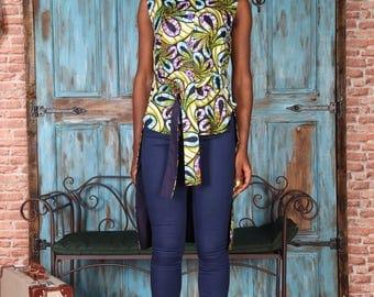 Sika'a long back sleeveless top