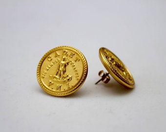 VMI Uniform Button Earrings