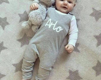 Baby romper, Toddler romper, baby boys romper, baby dungarees, toddler dungarees, boys dungarees, baby boys clothes, Personalised romper,