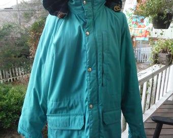 Teal L.L. Bean Freeport, Maine Women's Winter Coat