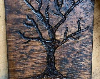 Custom Family tree carvings