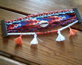 Bracelet multicolored multi strand