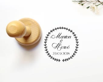 rustic crown Wedding rubber stamp, save the date rubber stamp, wedding stamp, Custom Wedding Invitations Stamp, crown wedding stamp