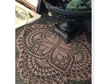 Golden Tulip Doily - CrochetMonCherie - Instant download - Crochet PATTERN (pdf file)
