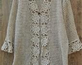 plus size sweater, Crochet Cardigan,  Plus Size women Cardigan Plus size cardigan sweater Women sweater Long Crochet Sweater Cardigan