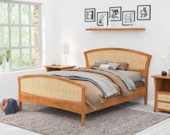 bed frame king size headboard platform bed queen art deco handmade - Moroccan Bed Frame