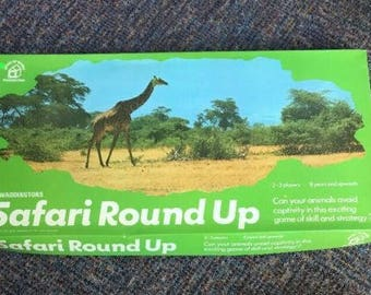 Waddingtons Safari Round Up Vintage 1974 Board Game RARE VGC