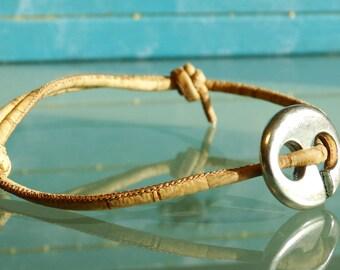 Vegan infinity bracelet men vegan men bracelet cork infinity bracelet couples boho bracelet wrap mens everyday bracelet hippie size S M L XL