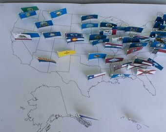 Geography Flags for DIY US Pin Map - Classical Conversations Cycle 3