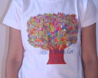 T-shirt white child tree