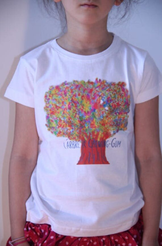 T-shirt white child tree