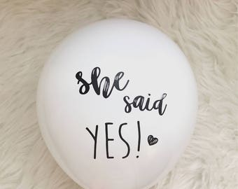 She Said Yes Bachelorette Party Decoration/ Bachelorette Party Balloons/ Bridal Shower Ideas/ Engagement Party Decor
