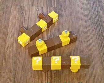 Mario Brick Pull Handle Super Mario Bros Gamer Gift Geeky Drawer Pulls   Nintendo Gift Ideas Geek Gift