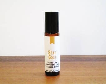 STAY GOLD / Chocolate Cinnamon Lime &Candied Ginger / Book Inspired / Children's Classics Collection / Roll-On Perfume Oil