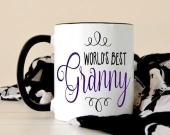 World's Best Granny Coffee Mug - Granny Gift - Christmas Gift For Grandma - Grandparents Day - Gift From Grandchild - Pregnancy Announcement