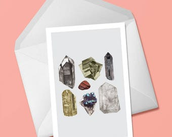 Crystal Greeting Card