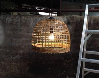 rustic pendant lighting fixtures. hanging lights rustic pendant light wicker artisan lamp shade size 43cmbasket lighting fixtures