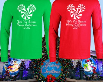 Walt Disney World Matching Family Christmas long sleeve shirt clothing magic kingdom animal kingdom epcot pandora hollywood studios 2018