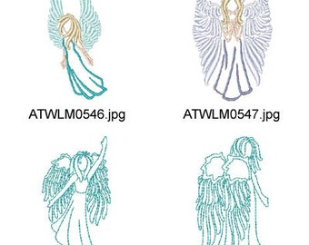 Beautiful-Outline-Angels ( 20 Machine Embroidery Designs from ATW ) XYZ17G