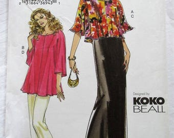Vogue 7782 UNCUT Koko Beall Top Dress Camisole and Pants Sewing Pattern Plus Size 18 20 22