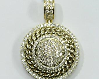 2.35 CT. Circle Diamond Pendant in 14K Gold