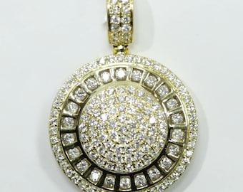 3.0 CT. Circle Diamond Pendant in 14K Gold