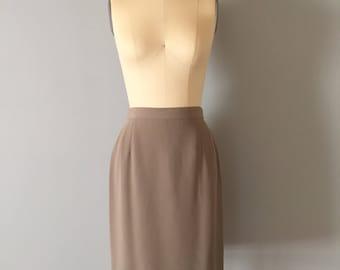 GEORGIO ARMANI mini skirt | 90s designer skirt | sage green silk pencil skirt