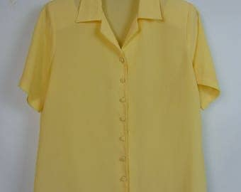 Vintage Lemon Blouse