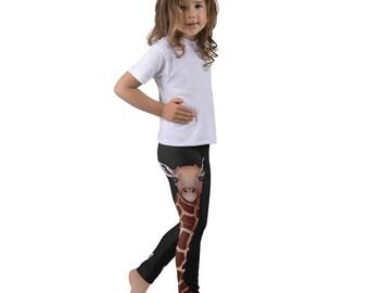 Giraffe Kid's leggings, Kids Gymnastic Pants, Dance Wear for Girls, Toddler Leggings Animal Print, Safari Zoo Animal, Unisex Kids Clothing