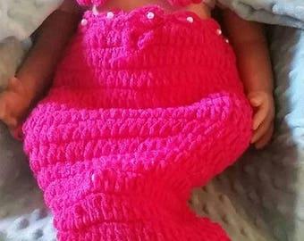 Newborn Baby Girl Mermaid Outfit, Baby Photo Prop, Reborn Clothes , Newborn Clothes, Photo Prop, Baby Gift