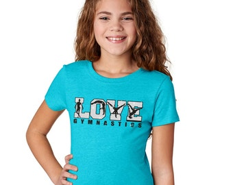 Gymnastics T-Shirt, Girls Gymnastics Shirt, Gymnastics Christmas Gifts, Gymanstics Team Gift, Gymnast Gift, Love Gymnastics