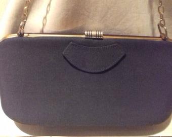1940s Fantastic Vintage Black ladies Handbag / Purse
