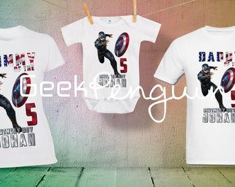 Captain America Birthday shirt, Captain America Shirt, Captain America party, Superhero party, Avengers Birthday Shirt, Avengers birthday