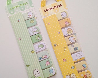 Sumikko Gurashi bear cat penguin cute kawaii kitsch stick markers post it sticky notes