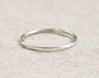 Sterling Silver Ring Band, Minimalist Ring, Thin Ring, Wedding Band, Silver Jewelry, Everyday Ring Jewelry, Minimalist Jewelry, simple Ring